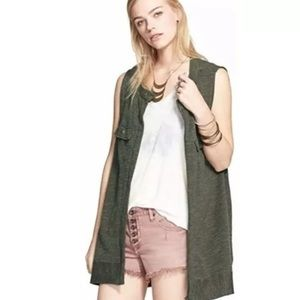 Free People Olive Highway Vest